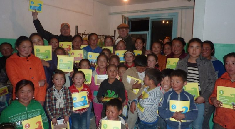 The distribution of three booklets on the wild camel for Mongolian school children recently translated by WCPF into Mongolian
