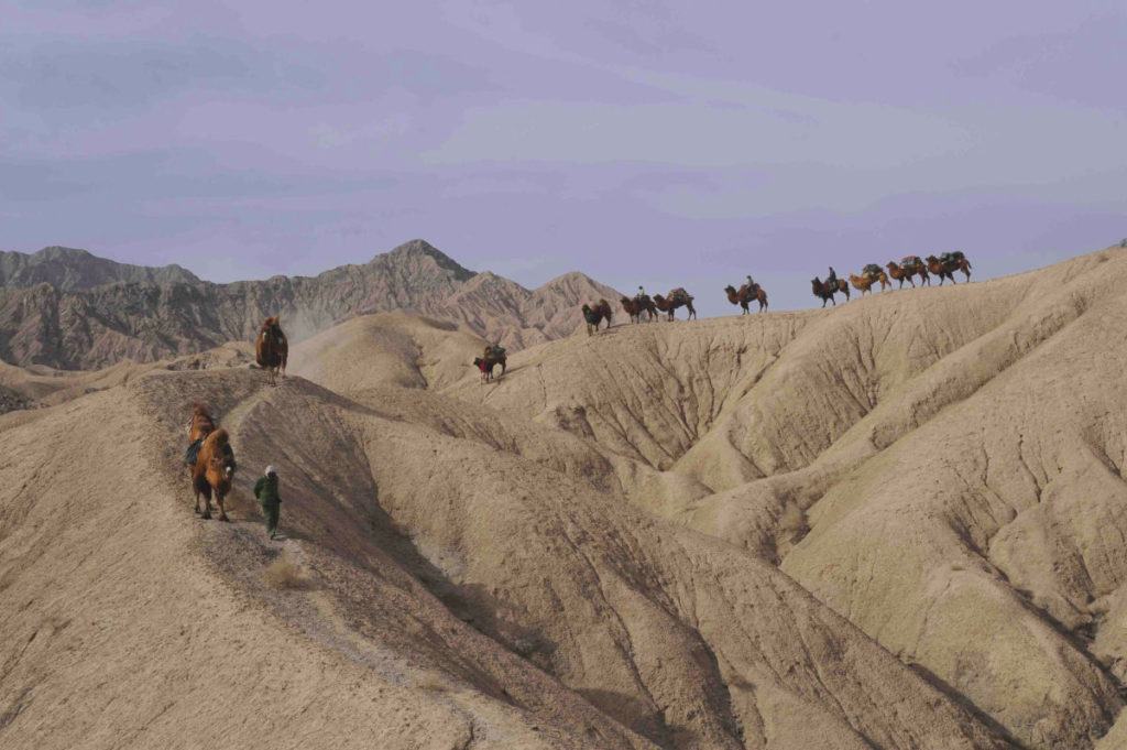 Trekking in the Desert of Lop, China