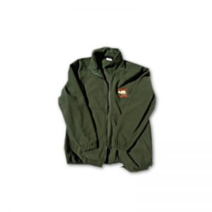 Luxury woollen fleece with WCPF logo