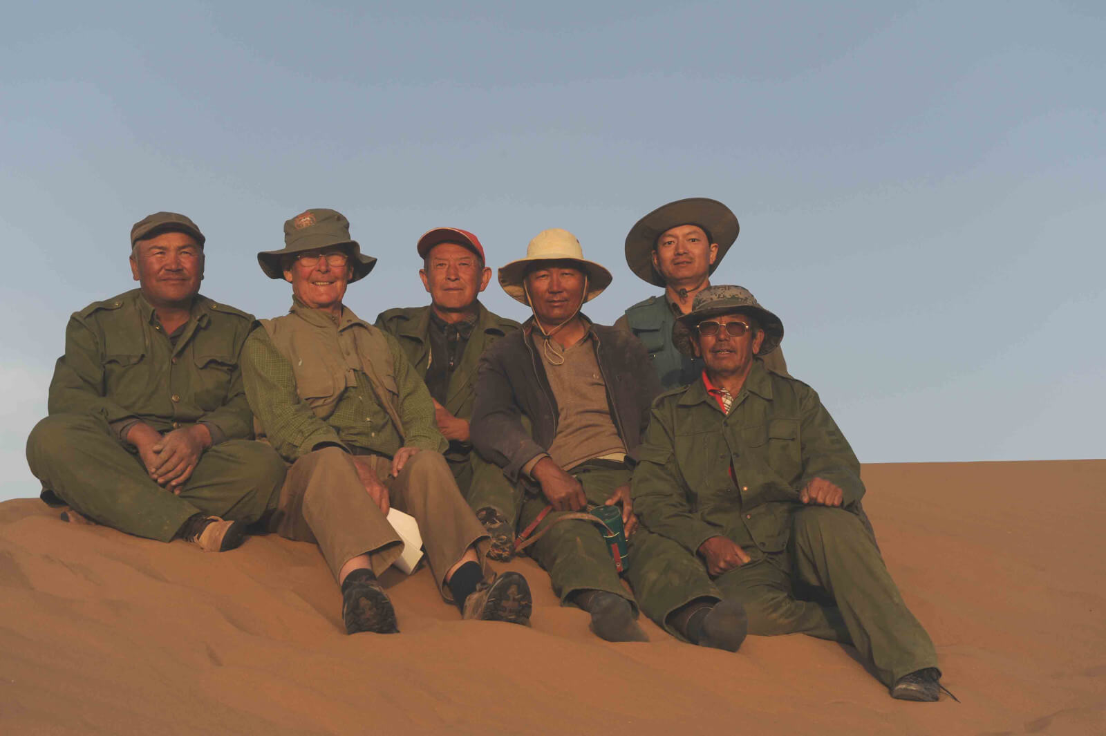 2011 Expedition team, John Hare, Dr Yuan Lei and Kazakh herdsmen